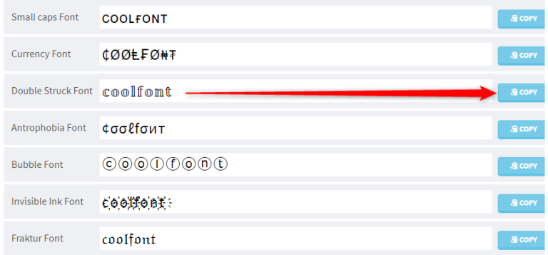 Cool Fancy Text Generatorの使い方